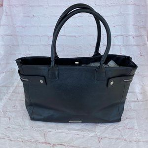 BCBGeneration zipper faux leather tote